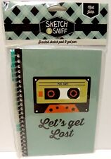 Scented Sketch Note Pad & Gel Pen - Mix Tape Mint Julep Sketch & Sniff - Green