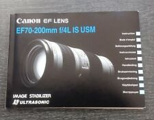 Canon EF 70-200 f4 USM IS manual