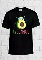 Avocado Queen Crop Ringer Tee Top Cropped Shirt Avocardio Veggie Vegan Fashion