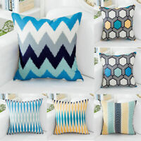 Geometry Drawing Room Waist Cushion Cover Cotton Linen Pillow Case Home Decor