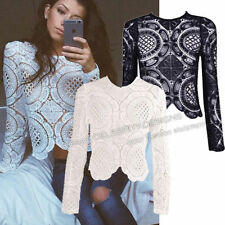 Square Neckline Long Sleeve Solid Tops & Blouses for Women