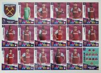 2020/21 PANINI Adrenalyn EPL Soccer Cards - West Ham Team Set (18 cards)