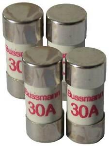 30 Amp Consumer Unit Cartridge Fuse 4 Pack 30A Cooper Bussmann BS1361 Fuse Box