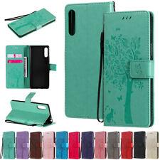 Cat Tree Wallet Leather Flip Case Cover For Sony L4 5 8 10 II 1 II XZ2 XA2 L3 L2