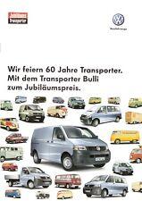 Prospekt / Brochure VW Transporter Bulli 09/2007