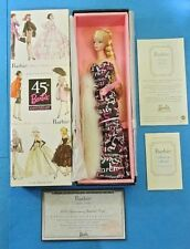 BARBIE 45TH ANNIVERSARY SILKSTONE DOLL EDICION LIMITADA B8955 FASHION MATTEL