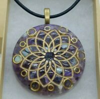 Crown Chakra Orgone Energy Pendant for Spiritual Connection & EMF Protection