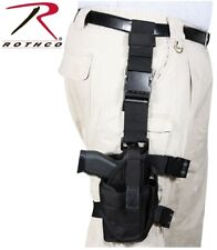Black Rothco Deluxe Adjustable Tactical Drop Leg Holster Black Rothco 10752