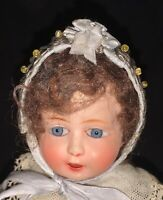 """10"""" French Celluloid Le Minor Petitcollin Brittany Baby Babig Koant Bebe Doll"""