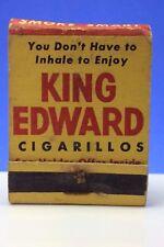 Vintage Advertising Matchbook Promotional Used King Edward Cigarillos B838