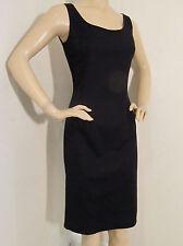 NEW ST JOHN KNIT SPORT SZ 2 WOMENS DRESS BLACK  COTTON SPANDEX SHEATH