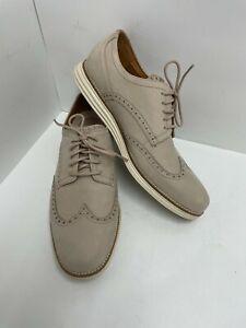 Cole Haan Mens Øriginal Grand Beige Wingtip Oxford Dress Shoe Mens Size 11M EUC