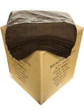 "240 Microfiber Dark Brown 16""x16"" Cleaning Detailing Cloths Towel Auto 300GSM"