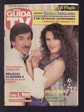 NUOVA GUIDA TV MONDADORI 26/1990 MARCO COLUMBRO E SABINA STILO CANALE 5 ITALIA 1