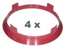 4xZentrierring Kunststoff 74.1mm auf 72.6mm lila (breite Phase)