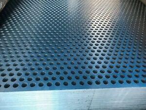 Perforated Aluminium Sheet metal plate mesh 10mm Ø Holes 2mm Thickness