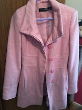 Jane Norman Pink Coat Jacket Tweed/Wool Style