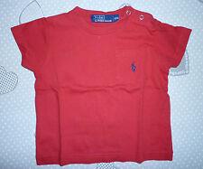 Polo Ralph Lauren taglia 12 mesi colore rosso con taschino size 12 months