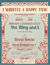 "Valerie Hobson ""KING AND I"" Rodgers & Hammerstein 1953 London Cast Sheet Music"