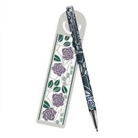 Mackintosh Pink Roses Ballpoint Pen and Bookmark Set in Presentation Box
