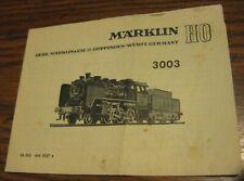 Marklin HO 3003 Locomotive Booklet printed 0157