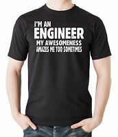 Gift For Engineer T-Shirt My Awesomeness Amazes Me Too Funny Profession Tshirt