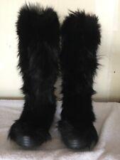 Ralph Lauren Collection Vibram Coyote fur boots. Size 9