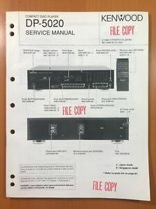 ORIGINAL SERVICE MANUAL & SCHEMATIC KENWOOD DP-5020 COMPACT DISC PLAYER D381