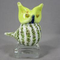 Icet Arte Murano Art Glass Owl Paperweight Figurine