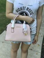 NWT Michael Kors Harper Medium Leather Satchel Crossbody Shoulder Bag Blossom