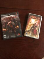 God of War black label New Sealed Sony PlayStation 2 And PSP Game Lot Of 2