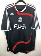 LIVERPOOL FC Football Shirt Size XL CARLSBERG EURO 2007-2008 BLACK RED WHITE
