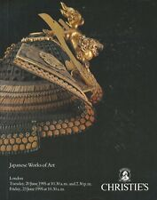 CHRISTIE'S JAPANESE Netsuke Inro Tsuba Swords Armour Lacquer Satsuma Catalog 95
