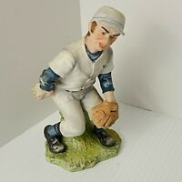 "Vintage Lefton KW7675 Baseball Pitcher Figurine with original Label 7.5"" Tall"