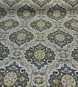 Swavelle Monsee Royal Onyx Damask Chenille Upholstery by the yard