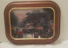 "Thomas Kinkade ""Carmel"" Post Card Plate w/Vanhygan & Smythe Frame"