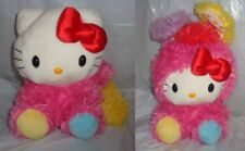 "12"" Sanrio Hello Kitty Rabbit Costume Rainbow Multicolor Plush Stuffed Soft Toy"
