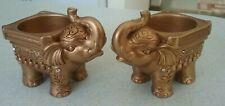 Elephant Votive Tea light Candle Holders home decor Lucky Elephant Gift Display