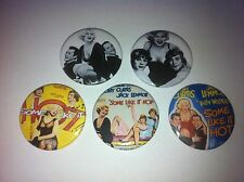 5 Some Like It Hot button pin badges 25mm Tony Curtis Jack Lemmon Marilyn Monroe