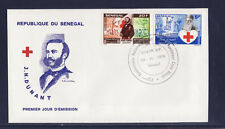 ASg/ Sénégal  enveloppe  1er jour  croix rouge  Henri Dunant   1978