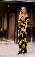 ZARA FLORAL WIDE LEG PALAZZO FLOWING TROUSERS SIZE S M REF 2479 401