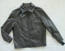 ROUNDTREE & YORKE Men's Luxury LAMBSKIN Leather GRAY Jacket XLT X-Large Tall NWT