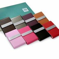 Portable Card Holder Stainless Steel Wallet PU Leather Personalized Business Kit