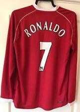 Manchester United Man Utd 2006/07 Long Sleeve Home Shirt/ Ronaldo 7/ Large (L)