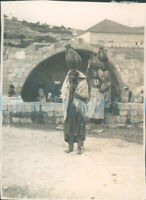 WW2 Middle East Palestine Nazareth The Virgin's Font photo 3x2""