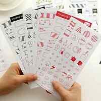 6 Sheet Cartoon Diary Planner Decor Calendar Scrapbook Paper Sticker Calenda