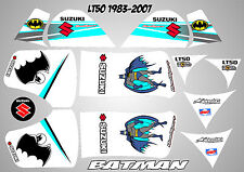 suzuki lt50 quad graphics stickers decals lt 50 laminated batman white lt 50
