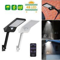 48LED Solar Powered Wall Mount Sensor Light Waterproof 2000mAh Lamp 6W w/ Remote