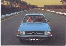 Audi 80 European issue postcard showing a blue car 1976-77