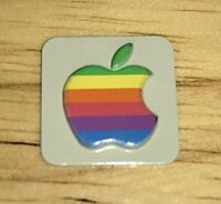 1984 Macintosh M0001 FRONT Case EMBLEM Apple Rainbow Logo Mac 128K or 512K NICE!